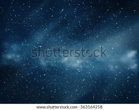 Universe filled with stars and clouds