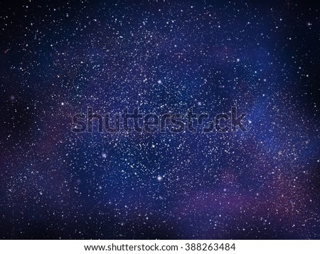 Universe filled with stars and galaxy