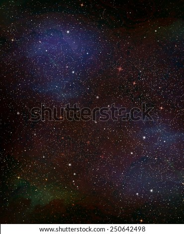 Universe filled with stars, nebula and galaxy - stock photo