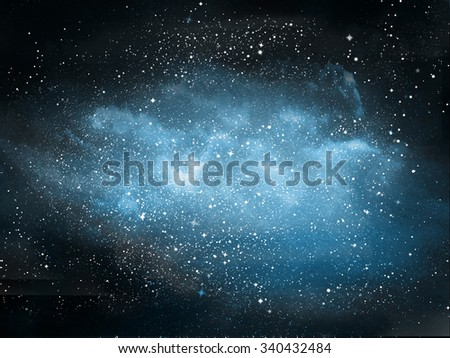 Universe filled with stars, nebula and galaxy - stock photo