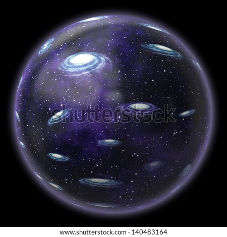 Universe in bubble - stock photo