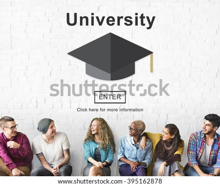 University Campus College Community Education Concept - stock photo