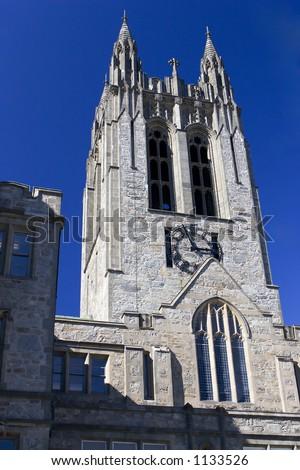 University Clock Tower - stock photo