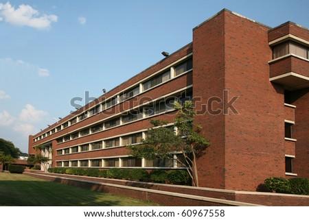 University dormitory building - stock photo