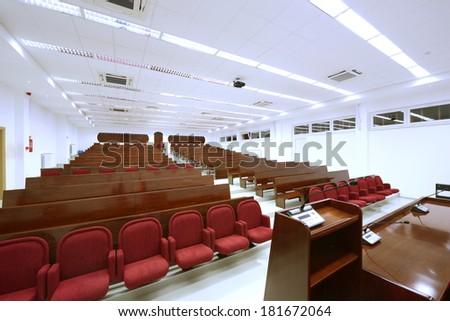 University lecture theater interior-university auditorium - stock photo