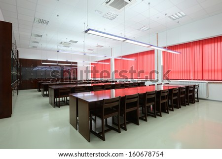 University library interior - stock photo