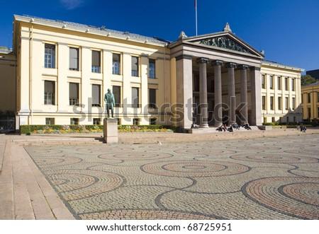University, Oslo, Norway - stock photo