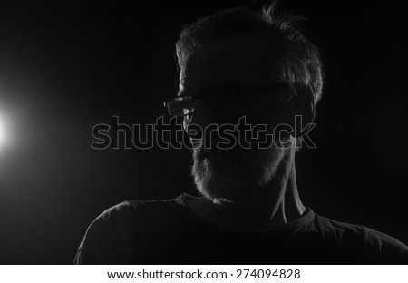 Unknown male person silhouette