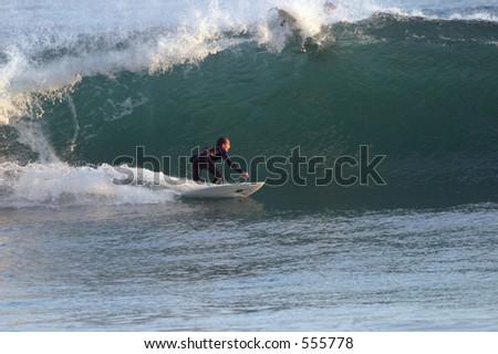 Unknown Malibu Surfer - stock photo