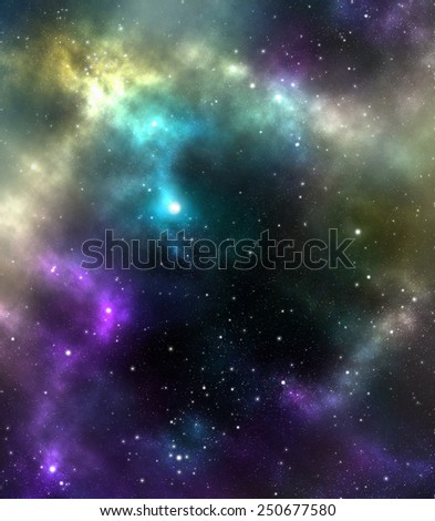 Unknown nebula, new galaxy. Space stars wallpaper. Abstract background - stock photo