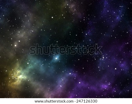 Unknown nebula, new galaxy, stars. Space stars wallpaper. Abstract photo-realistic background - stock photo