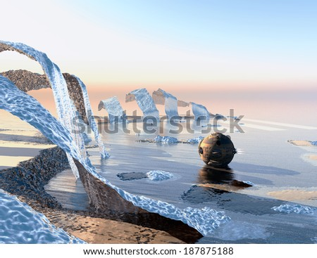 unknown territory - stock photo