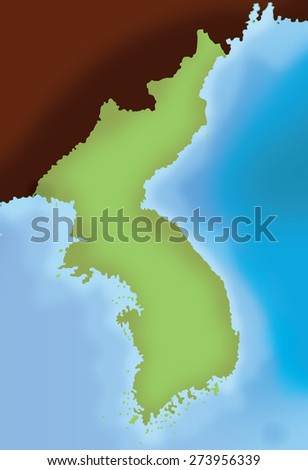 Unlabelled Map Korea Stock Illustration Shutterstock - Unlabelled map