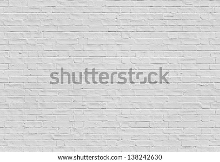 Unlimited endless seamless pattern of the white brick wall - stock photo