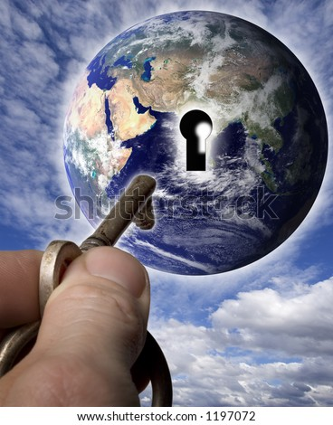 Unlocking the world - stock photo