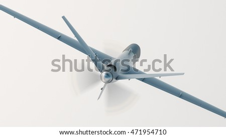 Unmanned aerial vehicle, 3D illustration