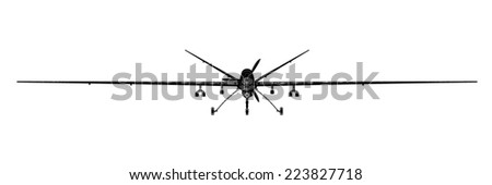 Unmanned Aerial Vehicle (UAV) , body structure, wire model - stock photo