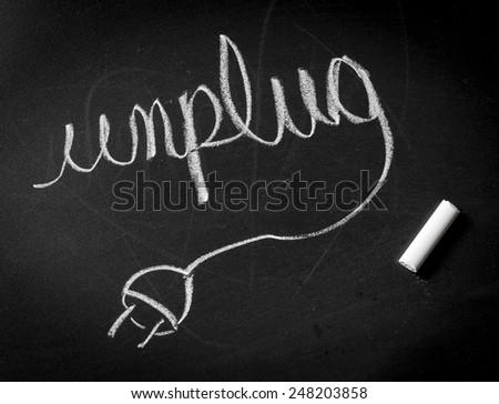 Unplug from electronics - stock photo