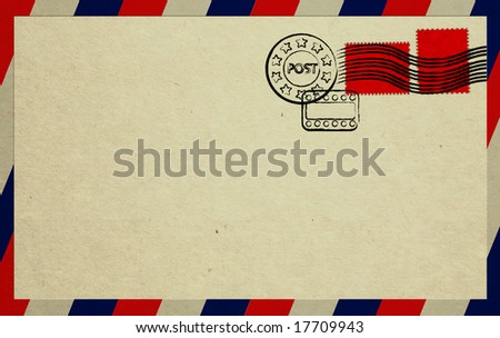Unread Letter With Red Stamps - stock photo