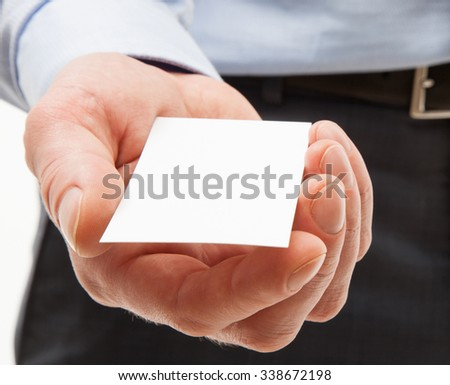 Unrecognizable businessman reaching out visiting - closeup shot