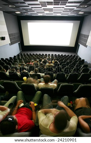 Unrecognizable people in a cinema