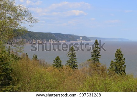 Unspoiled Beaches on the coast of  the Fundy Trail Parkway in New Brunswick, Canada