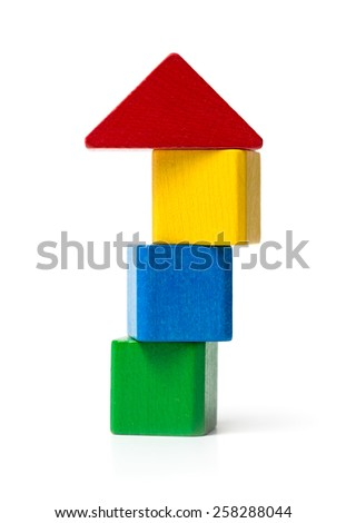 Unstable House - stock photo