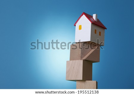 Unstable real estate - stock photo