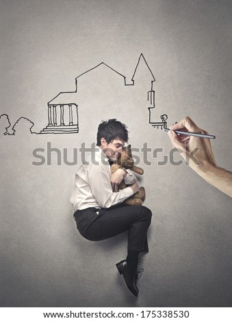 unsure actions - stock photo