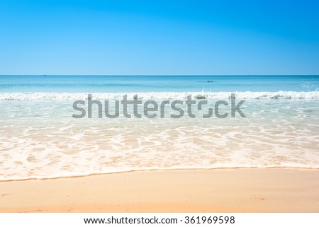 Untouched tropical beach in summer of Thailand. - stock photo