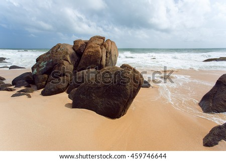 Untouched tropical beach of Sri Lanka
