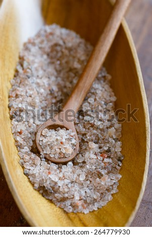 Untreated Austrian rock salt from Salzkammergut mountains -Bergkern Salt - - stock photo