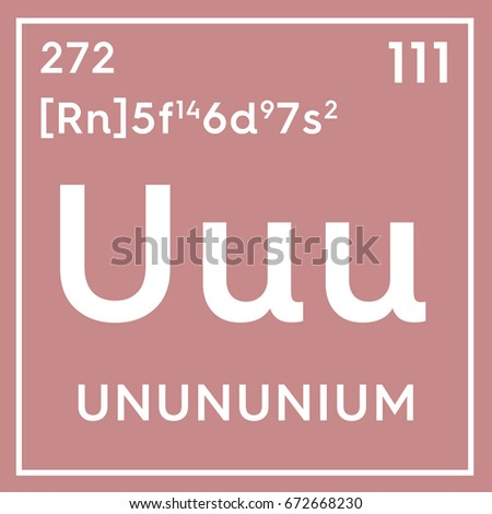 Unununium transition metals chemical element mendeleevs stock chemical element of mendeleevs periodic table unununium in square cube urtaz Image collections