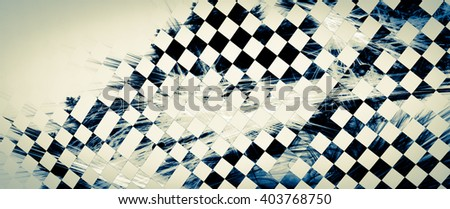 "Unusual abstract background, stylized similar to the checkered flag.  For the design in racing cars, competition, rally, speed, competition, championship. The texture is blurred, the effect of ""grain"" - stock photo"