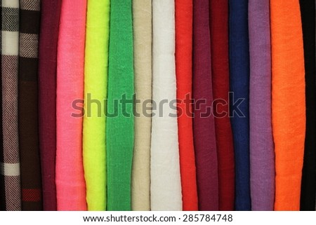 Unusual abstract colorful textile texture background