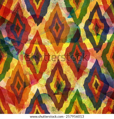 unusual colorful geometric abstract pattern