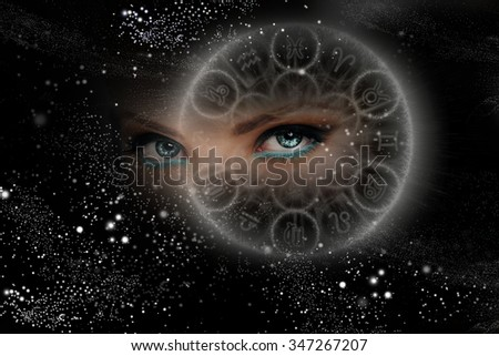 Unusual eyes of the Universe, zodiac signs