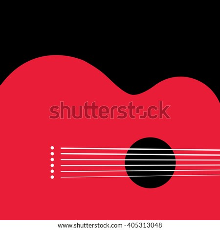 Unusual guitar graphic ideal for music gig announcements - stock photo