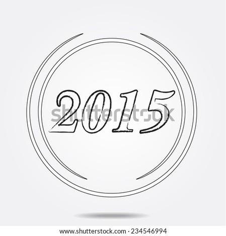 Unusual 2015 new year - stock photo