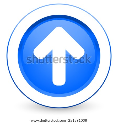 up arrow icon arrow sign  - stock photo