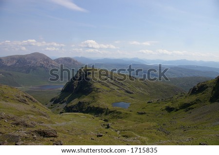 up in the mountains - stock photo
