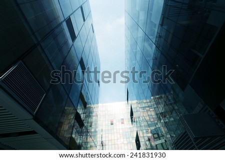 up looking modern office building exterior