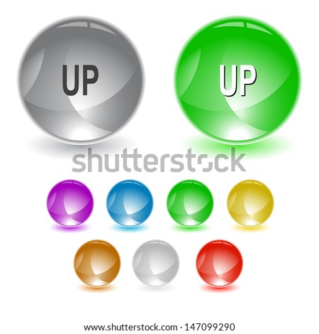 Up. Raster interface element. Vector version is in portfolio. - stock photo