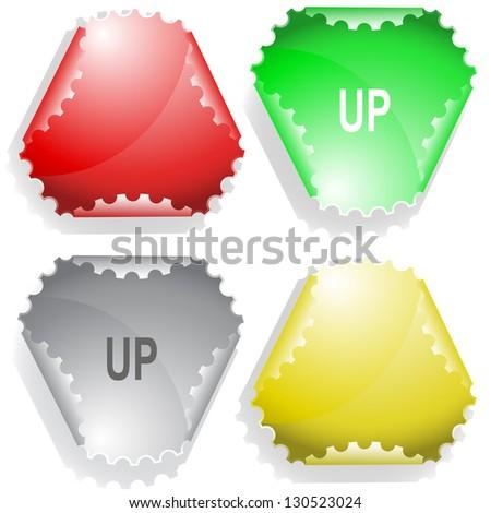 Up. Raster sticker. Vector version is in my portfolio. - stock photo