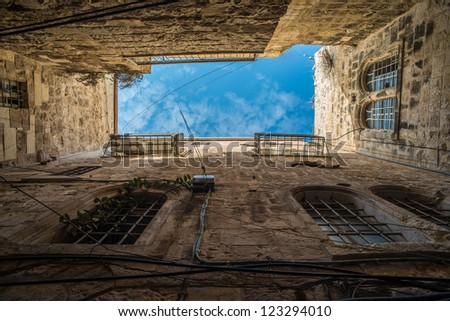Up to the sky - Old city Jerusalem - stock photo