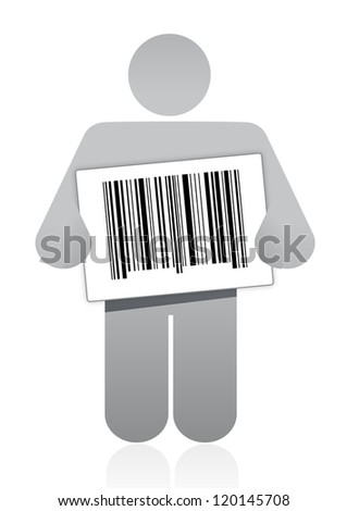 upc barcode and icon illustration design over a white background - stock photo