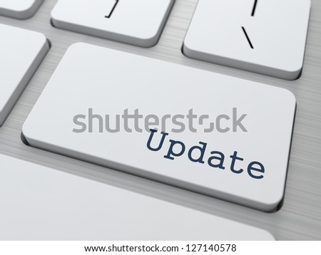 Update Concept. Button on Modern Computer Keyboard with Word Partners on It. - stock photo