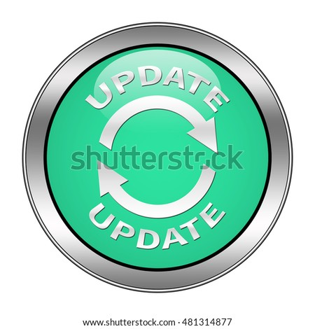 Update icon. Internet button.3d illustration.