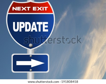 Update road sign