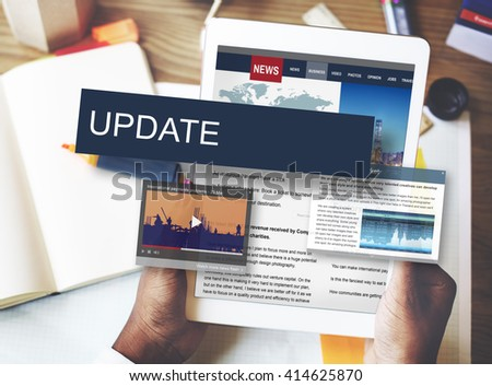 Update Trends Report News Flash Concept - stock photo